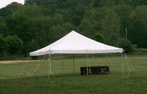 White 20' x 20' Pole Tent